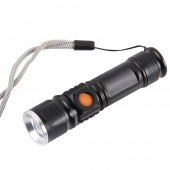 Фонарик MINI-ZOOM USB CREE T6